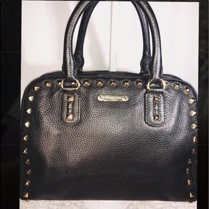 MK ~ Michael Kors ~ Black w/Gold Stud Satchel